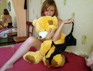 Beautiful Russian teen posing with her..