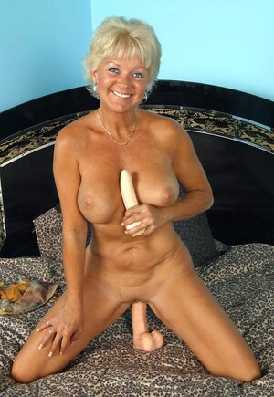 Busty mature GF riding dildo and..