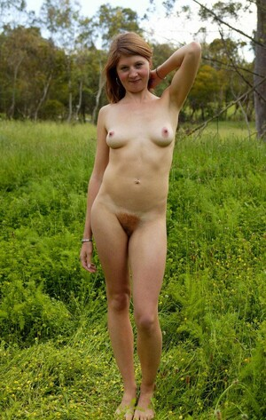 Red-haired pussy. Hairy pussy, Russian..
